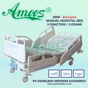 Amoos A808 - Exclusive Manual Hospital Bed - 3 Function