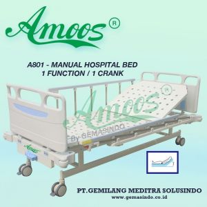 Amoos A801 - Manual Hospital Bed - 1 Function
