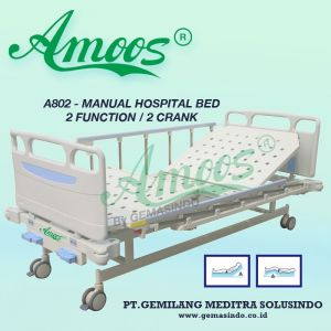 Amoos A802 - Manual Hospital Bed - 2 Function