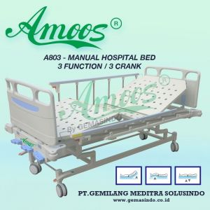 Amoos A803 - Manual Hospital Bed - 3 Function